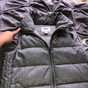 Grey Old Navy puffer vest